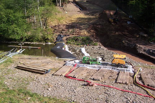 Temporary Cofferdam RIver Crossing 16