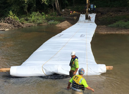 Water Inflated Flood Barriers Texas